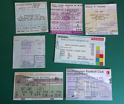Manchester United Away Tickets. 7 Different - No Dates Good Condition. Bulk Sale