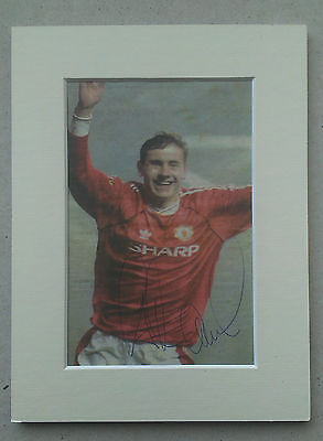 Andrei Kanchelskis - Manchester United Signed Mounted Picture 1990's Russian