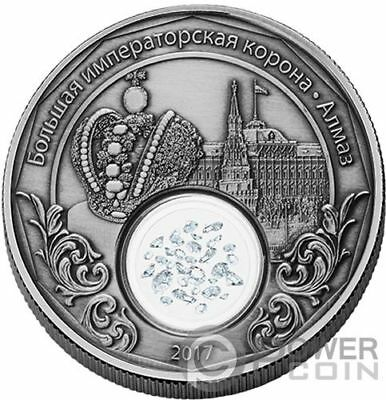 IMPERIAL CROWN OF RUSSIA Treasures Mother Silver Coin 1500 Francs Cameroon 2017