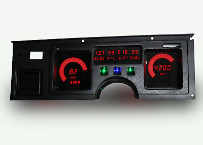 C3 Corvette 1984-1989 LED Digital Dash Gauge Instrument Cluster Direct Fit Red