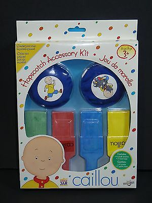 Caillou Hopscotch Accessory Kit Includes 4 Chalk Brushes & 2 Bean Bags (2005)