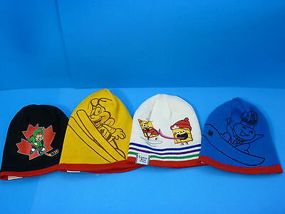 Team Canada Complete Set 4 Reversible Toque Collectable Hat General Mills Cereal