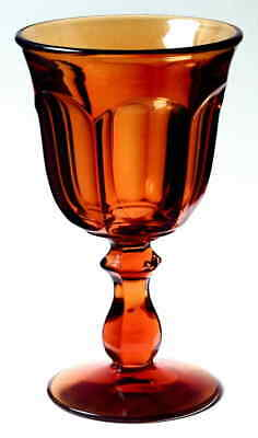 Imperial Glass Ohio OLD WILLIAMSBURG AMBER Water Goblet 237462