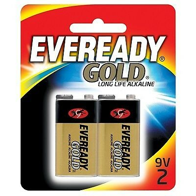 Eveready Gold Battery -  Long Life Alkaline, 9V, 2 Pack