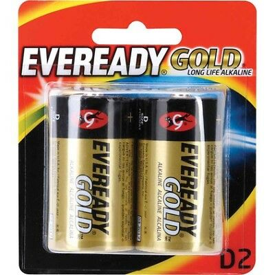 Eveready Gold Battery - Long Life Alkaline, D, 2 Pack