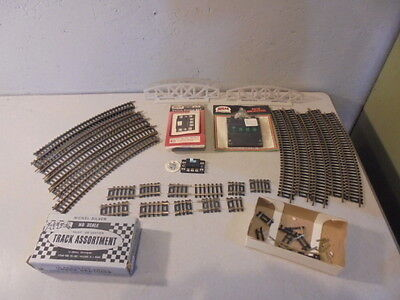 Vintage HO Scale Train Set Lot Tracks Switches
