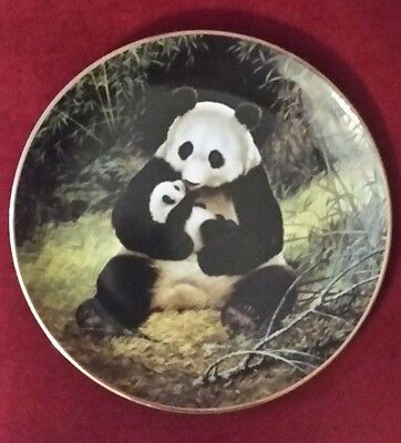 """Vintage 1988 W.S. George Fine China """"The Panda"""" by Will Nelson Collector Plate"""