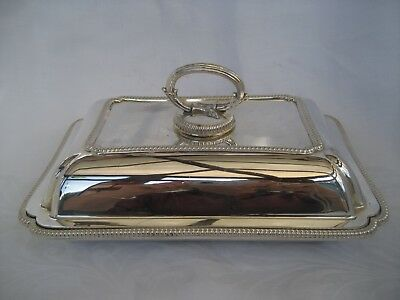 SPLENDID VINTAGE SILVER PLATED ENTREE DISH - excellent condition