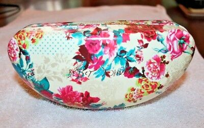 Betsy Johnson Eyeglass Case With Flower Design Nwt