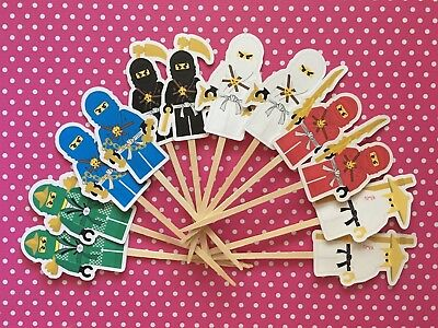 Ninja Party Set Of 12 Cupcake Toppers