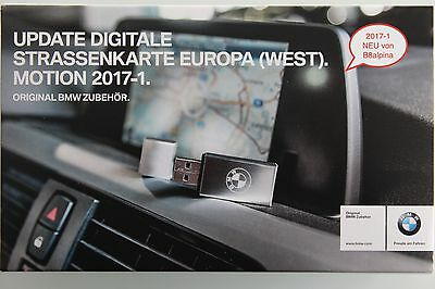 ORIGINAL - BMW NAVI UPDATE EUROPA MOTION 2017-2 Ost //  West  USB-Version