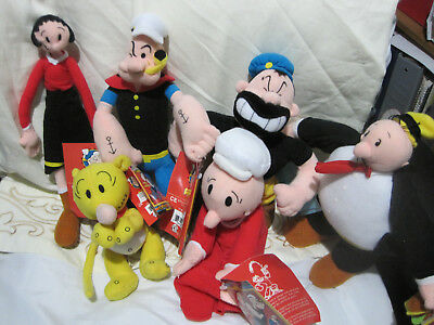 6 Popeye and friends dolls   2003   Excellent