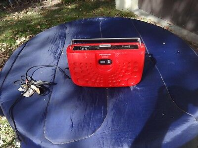 WORKING Vintage Panasonic Swiss Cheese  RS-833S Stereo Portable 8 Track Player