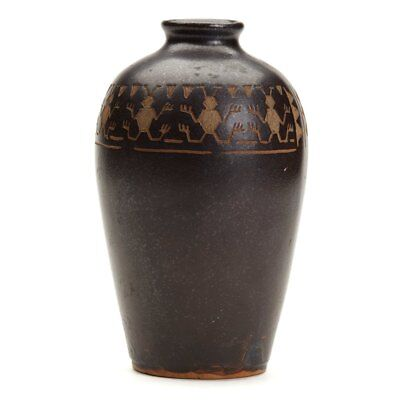 Vintage Japanese Studio Pottery Insect Vase Signed