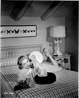 Martha Hyer  in her bedroom on the telephone  8x10 Photo 9