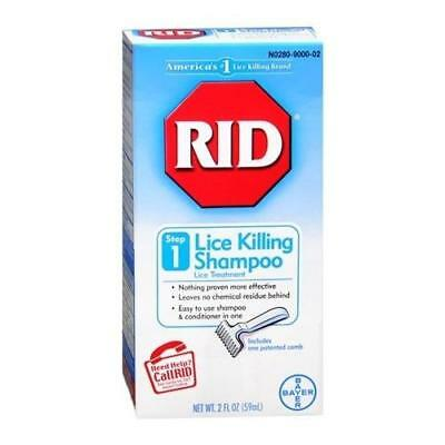 Rid Lice Killing Shampoo Step 1 2 OZ (5 Packs)