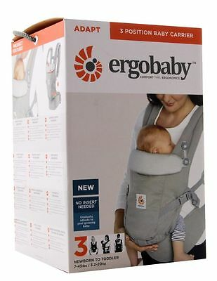 Ergobaby Adapt 3 Positions Baby Carrier - Pearl Grey - FREE SHIPPING