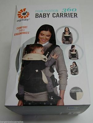 Ergobaby 4 Positions 360 Baby Carrier - Black Camel - FREE SHIPPING