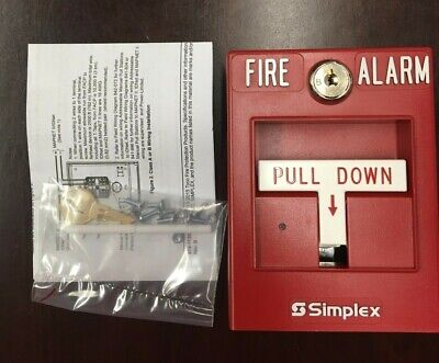 (New) Simplex 4099-9004 Fire Alarm Pull Station, Single Action