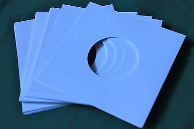 White 7 inch white paper record sleeves - batch of 25