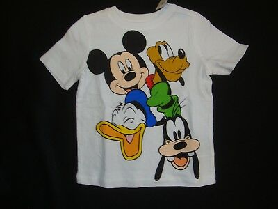 Old Navy/ Disney Mickey Mouse Donald Duck ,pluto & Goofy Graphic Tee Shirt Nwt