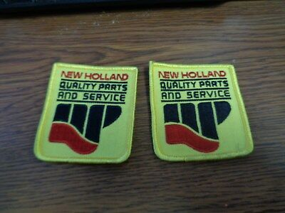Vintage New Holland Tractors, PARTS AND SERVICE Hat Jacket Uniform Patches C
