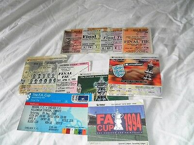 Fa Cup Final Tickets 1962  - 2002 Select From List