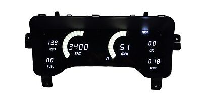 Jeep TJ 1997-2006 White LEDs Dash Digital Gauges Speedo Tach Temp Fuel Warranty!