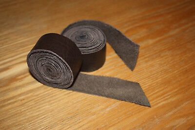 30mm x 190mm Brown Handcut Genuine Leather Bar Tape.