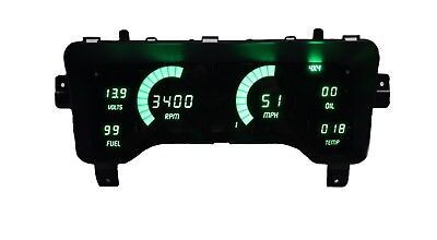 Jeep TJ 1997-2006 Green LEDs Dash Digital Gauges Speedo Tach Temp Fuel Warranty!