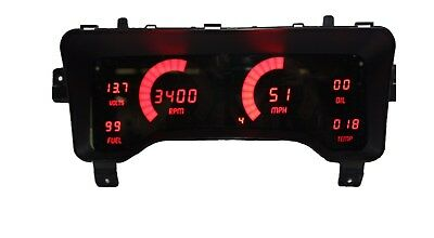 Jeep TJ 1997-2006 RED LEDs Dash Digital Gauges Speedo Tach Temp Fuel Warranty!
