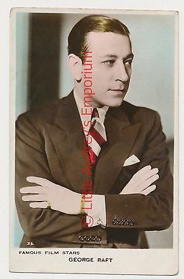 Old Postcard GEORGE RAFT Real Photo Unposted AM287