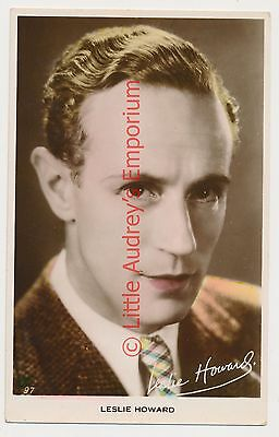 Old Postcard LESLIE HOWARD Real Photo Unposted AM297