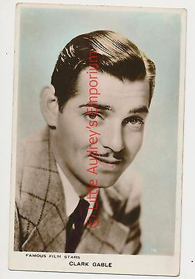 Old Postcard CLARK GABLE Real Photo Unposted AM290