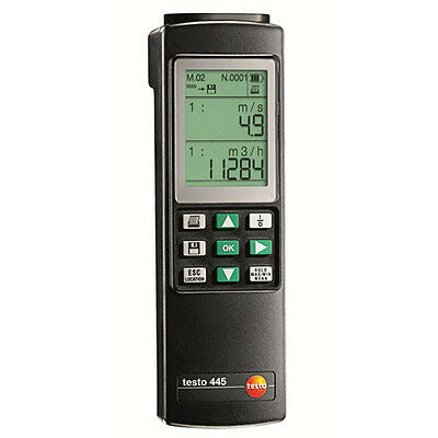 Testo 445 (0560 4450) VAC Testing, Datalogger, 6 Parameters, Incl. Topsafe