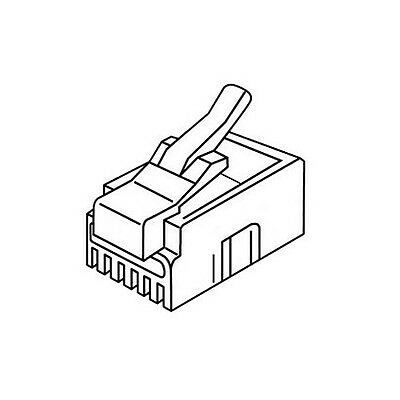 Platinum Tools 106110 RJ-11 (6P4C) Connector Flat-Stranded. 500/Bag.