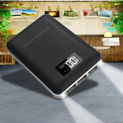 Portable 50000mAh LCD Power Bank 3USB 2LED Backup Battery Charger For iPhone7 8
