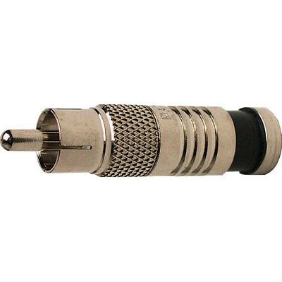 Platinum Tools 18061 RCA RG59 Compression Connector, Nickel Plate. 6/Clamshell.