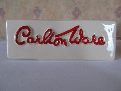Carlton Ware Name Plaque/stand Lovely Condition