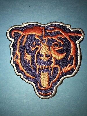 Rare Chicago Bears Football Patch Hipster Crest Jacket Hat Backpack Patch
