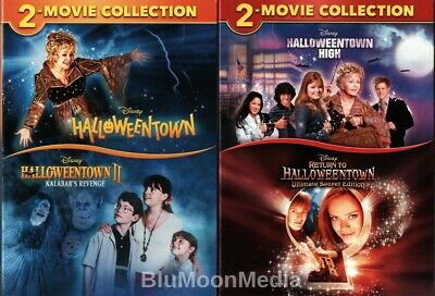 Halloweentown 1 2 3 4 DVD Complete Collection Disney 4 Movie Set Slipcovers NEW