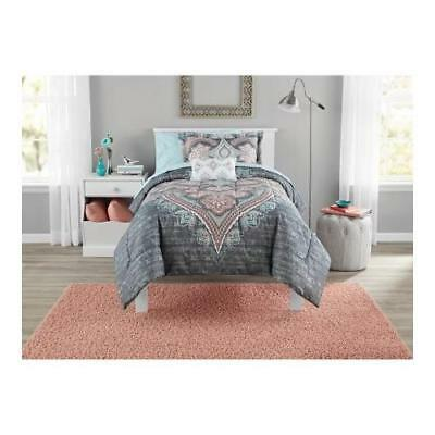 Bed in a Bag Global Diamond Comforter Set actualColor: GREY size: Twin/Twin-XL