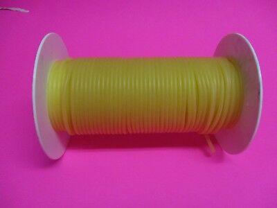 "50 Feet 1/16"" I.D x 1/32"" w x 1/8"" O.D Surgical Latex Rubber Tubing Amber Reel"