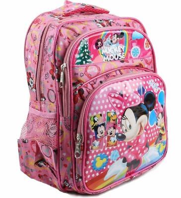 Minie Mouse Backpack School kids Rucksack Girls bag +1Free Hand Spinner