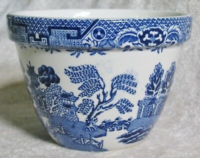 Blue Willow Design Porcelain Made in England RICE BOWL