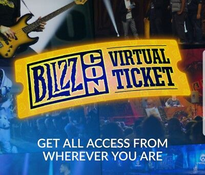 Blizzcon 2017 Virtual Ticket with in game goodies!! FREE SHIPPING!!!