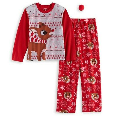 Rudolph the Red Nosed Reindeer Pajama Set Kids size Large Christmas