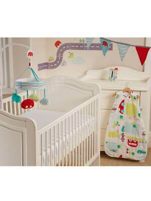 Gro All Aboard Boys Baby Safer Sleep Nursery Set Cot Mobile + More - Gift