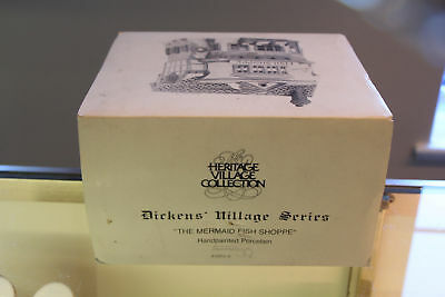 Heritage Village The Mermaid Fish Shoppe Dickens' 59269 Dept 56