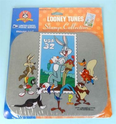 Looney Tunes BUGS BUNNY Stamp Mouse Pad MARVIN, DAFFY, TAZ, TWEETY